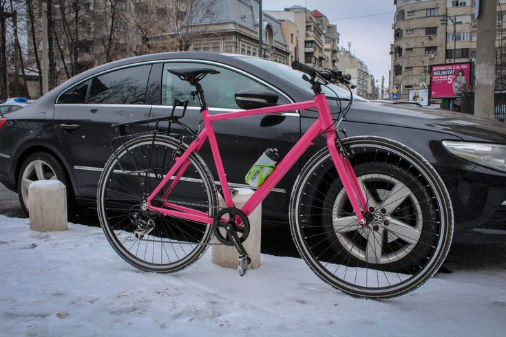 Magenta bicycle made with love by COBI Bicycle