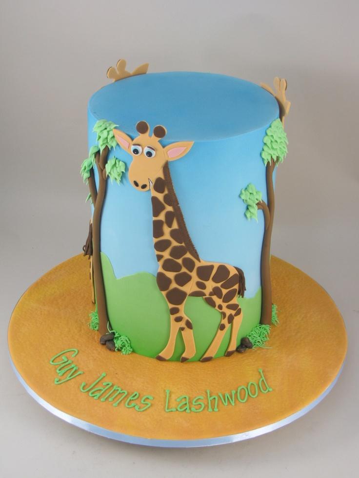 cute giraffe cake