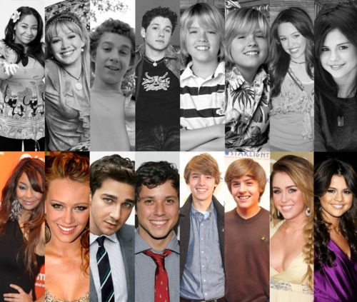 Disney channel stars then and now :D Shia LeBeouf OMG and the Sprouse Twins SO HOT