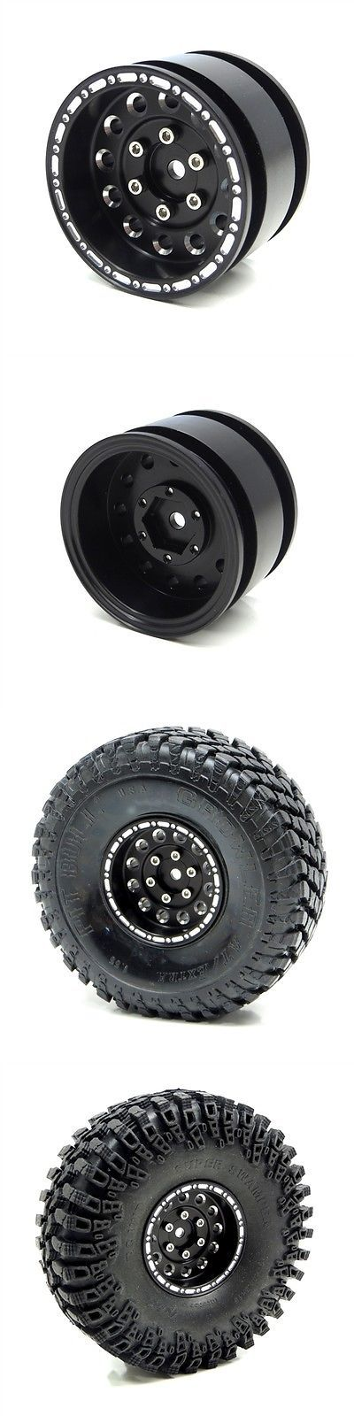 Wheels Tires Rims and Hubs 182201: Gear Head Rc 1.55 Krusher Blackout Wheels (4) Gea1003 -> BUY IT NOW ONLY: $59.99 on eBay!