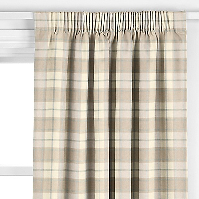 Buy John Lewis Marlow Check Curtains, Cornflower online at JohnLewis.com - John Lewis