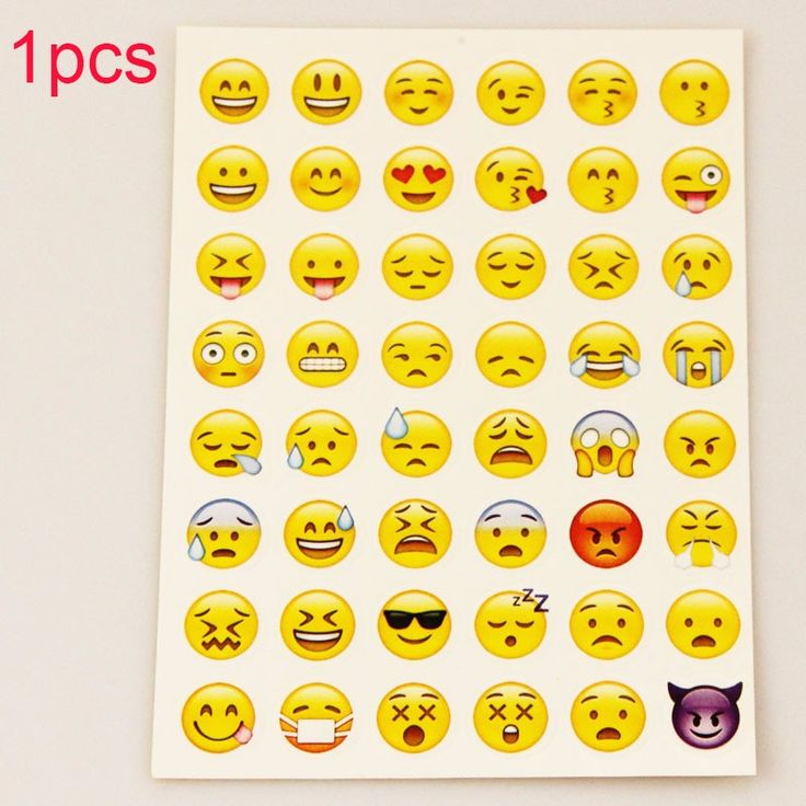 MOONBIFFY sticker 48 classic Emoji Smile face stickers for notebook albums message Twitter Large Viny Instagram Classical toys