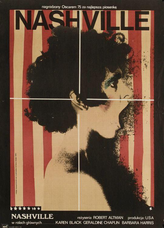 Nashville (1975) d. Robert Altman (poster from Poland)