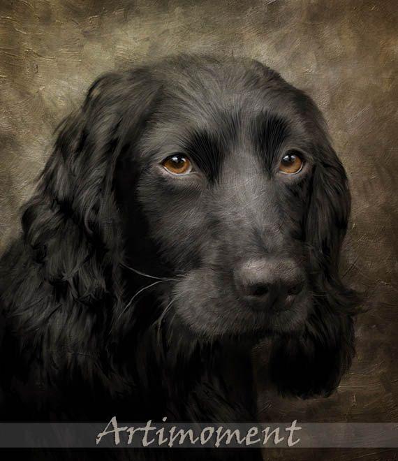 Cool doggie- For more, please visit www.artimoment.com  Custom Portrait, Custom Pet, Dog Portrait, Personalized Dog Painting, Custom Digital Dog Portrait, Custom Cocker Portrait by Artimoment