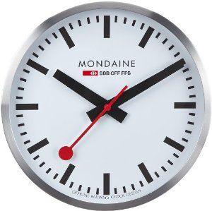 Mondaine Large Swiss Railway Clock A995 Quartz Movement