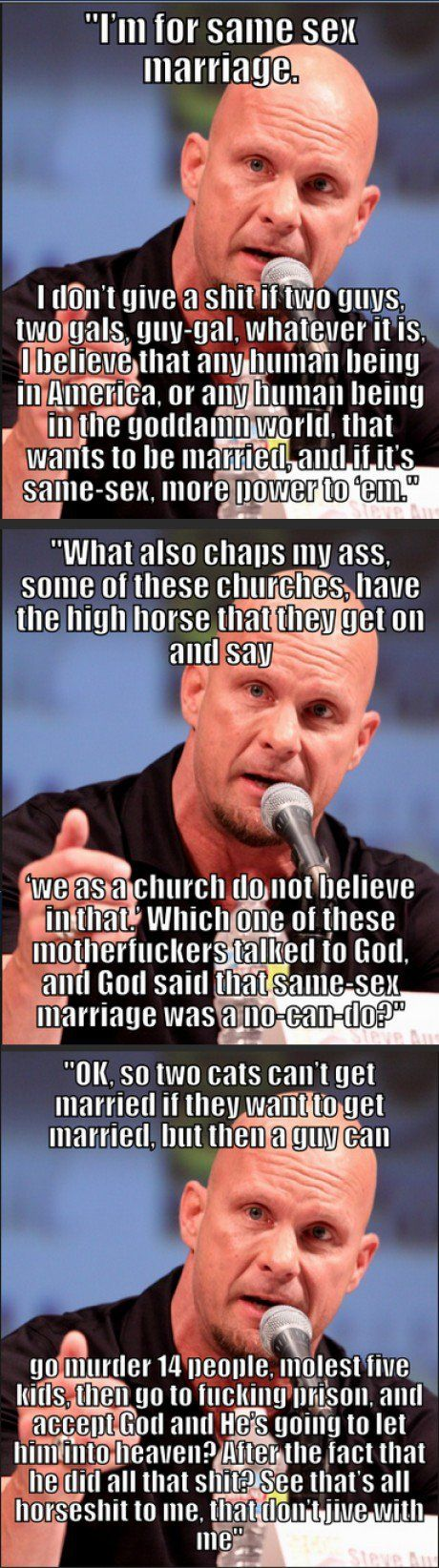 Boom. And that's the bottom line because stone cold said so!
