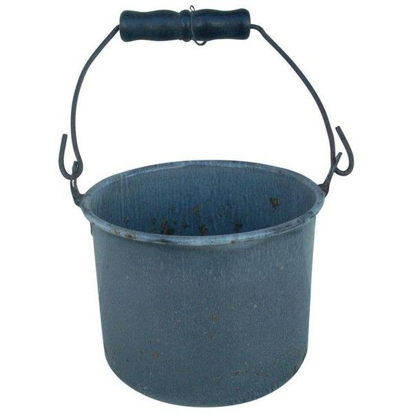 Vintage Gray Graniteware Berry Pail (88 CAD) ❤ liked on Polyvore featuring home, kitchen & dining, kitchen accessories, vintage kitchen accessories and grey kitchen accessories