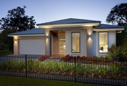 Clarendon Display Homes: Malvern 25 Contemporary Facade. Visit www.localbuilders.com.au/display_homes_nsw.htm for all display homes in New South Wales
