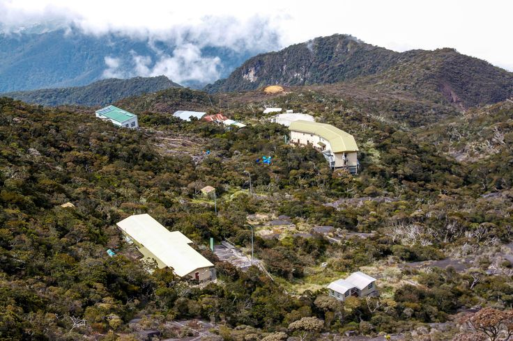 "This is the camp that we were ""almost able to"" sleep in at 4101 meters on Mount Kinabalau"