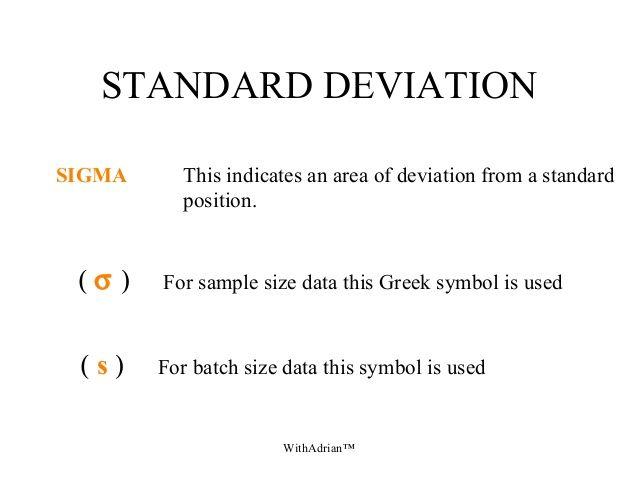 sample standard deviation symbol - Google Search | I Hate Math ...