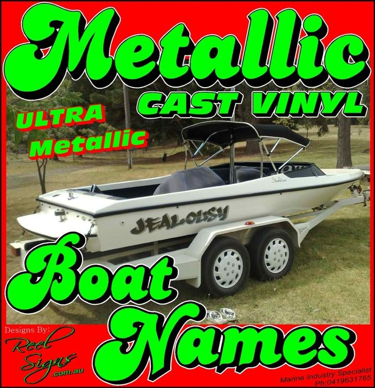 REEL SIGNS® - Marine Industry Specialist - 2x Boat Yacht Names Decal Sticker Kit – Ultra Metallic -270x1400mm, $90.00 (http://www.reelsigns.com.au/2x-boat-yacht-names-decal-sticker-kit-ultra-metallic-270x1400mm/)