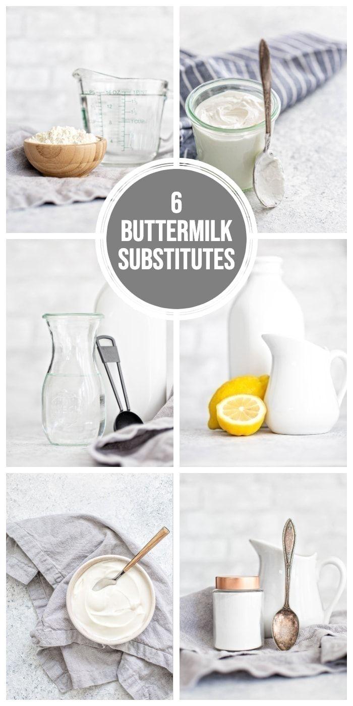 How To Make Buttermilk 6 Buttermilk Substitutes Learn All About Common Buttermilk Substitut In 2020 Buttermilk Substitute How To Make Buttermilk Homemade Buttermilk