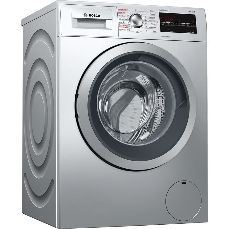 WVG3047SGB_SI | Bosch Serie 6 Washer Dryer | Silver | ao.com