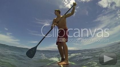 Point of view shot of surfer riding wave and falling HD Stock Footage Clip. Extreme wide. 2013-07-07.
