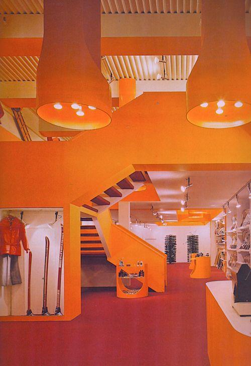 Flickr Photos Jerjae 8130089971 70s DecorFuturistic InteriorTrue ColorsSpace AgeDesign ElementsOrange StoreHistory