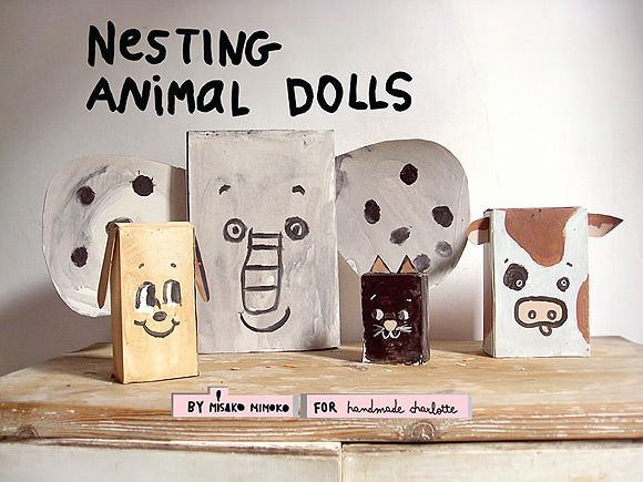 These super fun upcycled cereal box nesting dolls are a perfect paint & play craft activity to do with your kids!