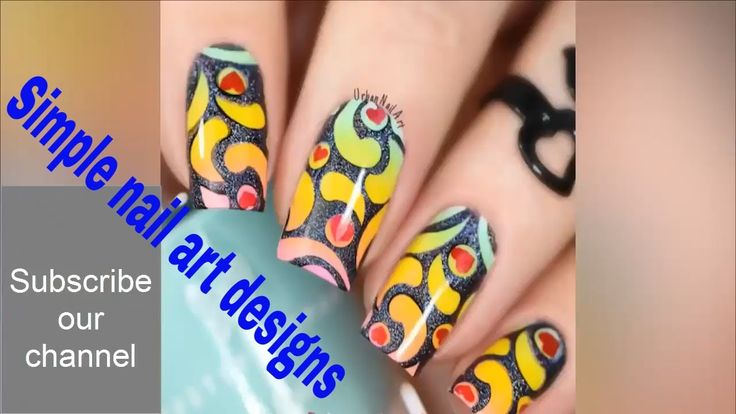Simple nail art designs at home for beginners without tools for short nails