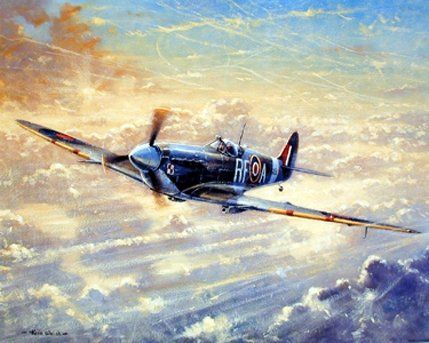 Spitfire Painting Military Aviation Airplane Vintage Art Print Poster (8x10) Impact Posters Gallery http://www.amazon.com/dp/B00FDMOWCC/ref=cm_sw_r_pi_dp_PNGswb1T8223B