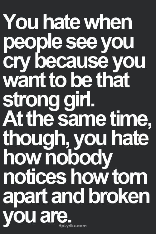 you want to be that strong girl