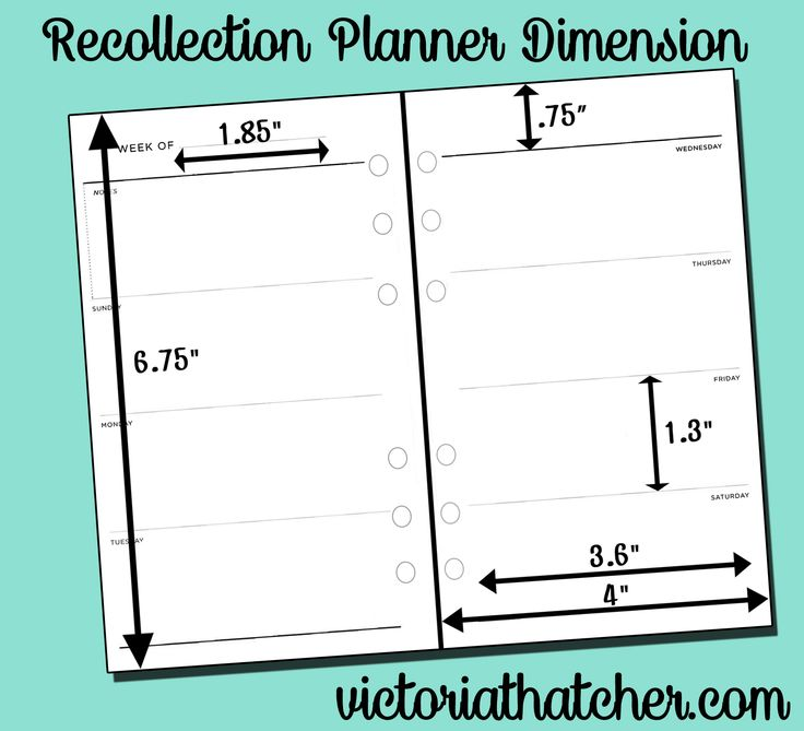 dimensions for the michael 39 s recollection planner planner printables by victoria thatcher. Black Bedroom Furniture Sets. Home Design Ideas