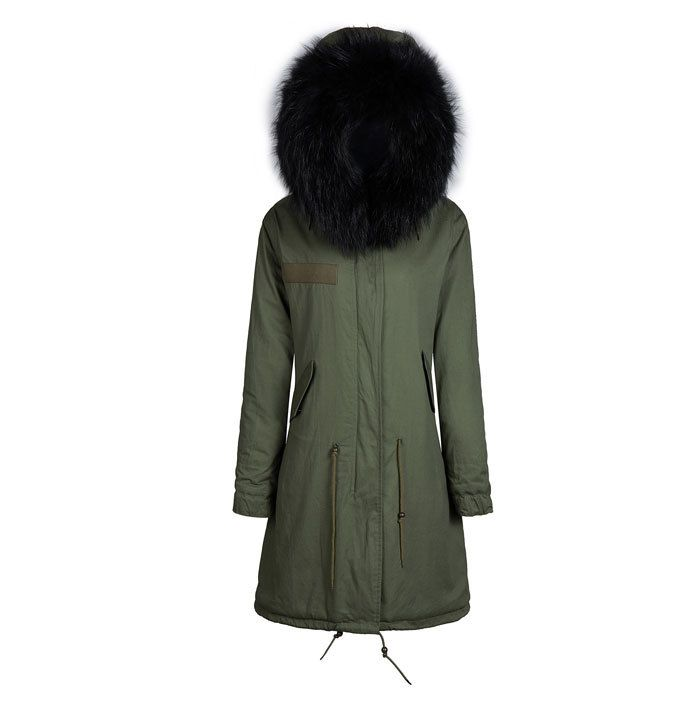 black faux fur jacket tall men wear jacket, hot sale style with removable collar fur long jacket