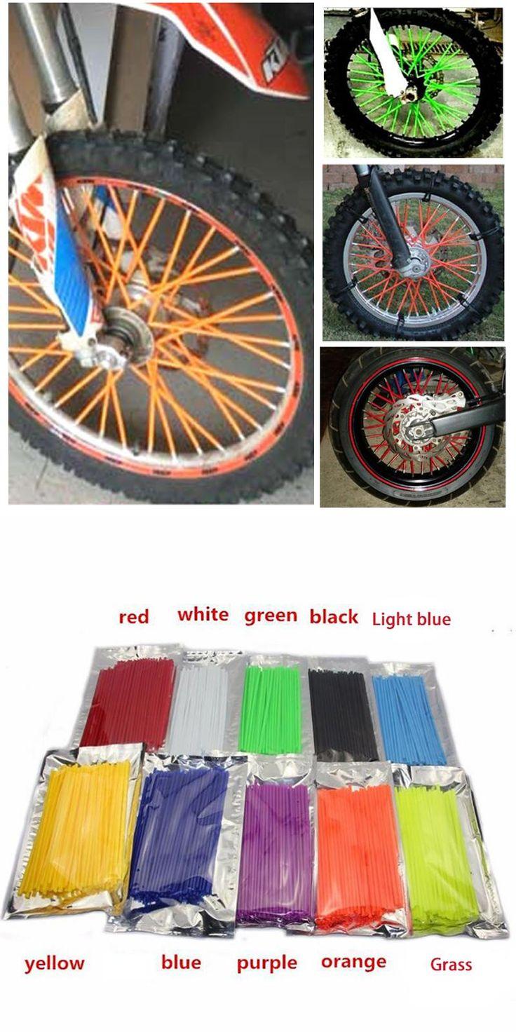 [Visit to Buy] Motocross SPOKE SKINS Wheel RIM SPOKE COVERS bicycle For KAWASAKI ktm 250 bmw SUZUKI XR650L cbr1000r Super Tenere WR250X 500 EXC #Advertisement
