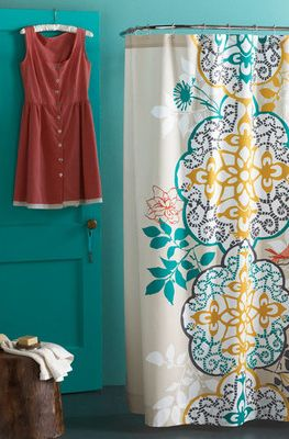 Blissliving Home Shangri La Cotton Shower Curtain