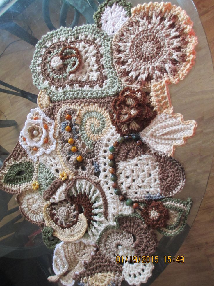 Freeform Crochet Wall Hanging