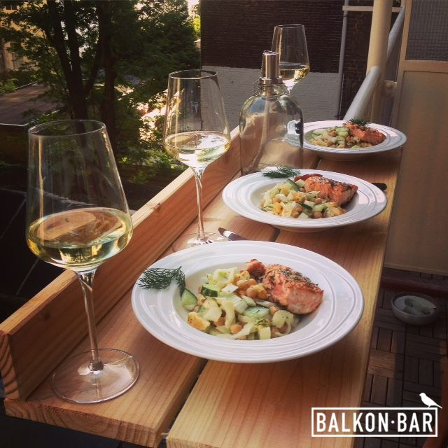 Having a dinner on your own balcony is now finally possible!
