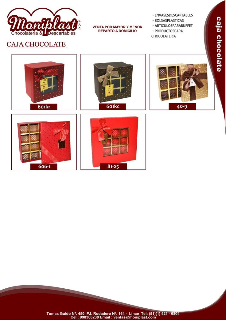 M s de 25 ideas nicas sobre cajas para bombones en - Ideas decorativas navidenas ...