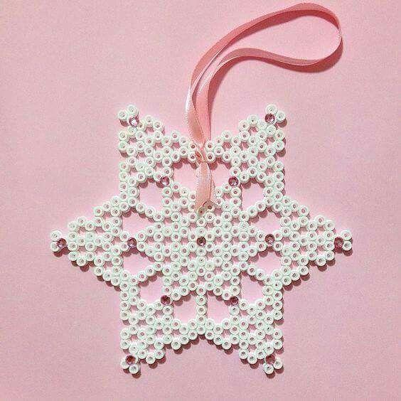 Stella di Natale, decorazione albero.  Foto trovata su Facebook