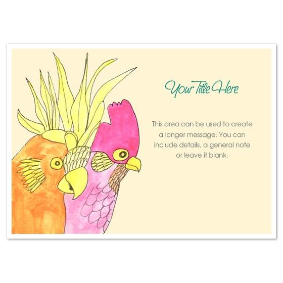Lovely parrot design from artist greasychicken