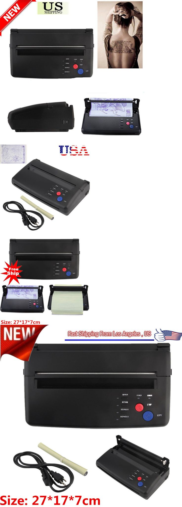 Tattoo Supplies: Pro Black Tattoo Transfer Copier Printer Machine Thermal Stencil Paper Maker Ms BUY IT NOW ONLY: $111.09
