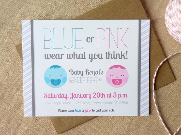 Gender Reveal Invitation / Custom Invitation / Gender Reveal Party