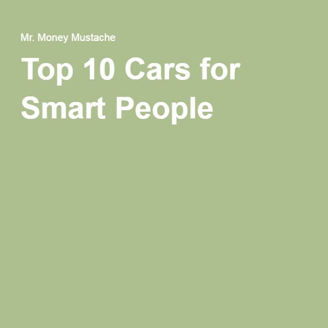 Top 10 Cars for Smart People
