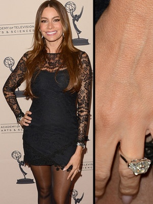 Sofia Vergara Shows Off Her HUGE Engagement Ring At The Emmy Party In Hollywood Other
