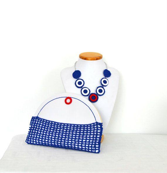 Mini borsetta in stile nautico marinaro pochette estiva di VereV