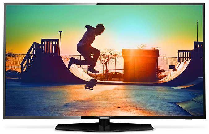 """Philips 65PUS6162  Description: Philips 65PUS6162/12: 65"""" 4K Ultra HD TV kijken wordt een nieuwe ervaring met de Philips 65PUS6162/12. Deze 4K Ultra HD TV geeft prachtige beelden en helder geluid. Dankzij het superslanke design hang je hem met gemak op aan de muur of je zet hem op het dressoir hij past mooi in elk interieur. De 65PUS6162 is een Smart TV en biedt dus een wereld aan entertainment voor als je het zappen en reclames zat bent. Schakel makkelijk door de verschillende content en…"""