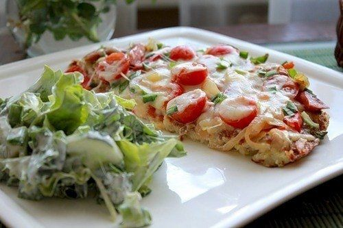 Фото к рецепту: Картофельная пицца на ужин