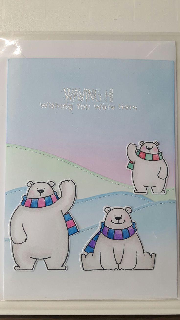 466 Best Cards Mft Polar Bear Pals Snowmen Winter Images On
