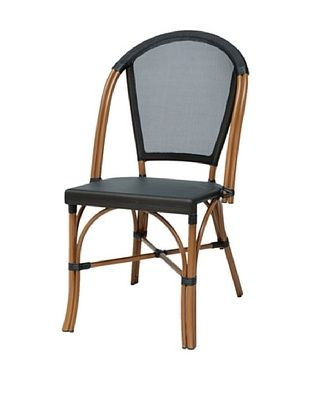 47% OFF Palecek Indoor/Outdoor Paris Bistro Chair, Black/Natural