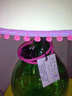 Paralume DESIGN,lampada Villani boccione 5lt vino,bottle lamp!made in Italy!