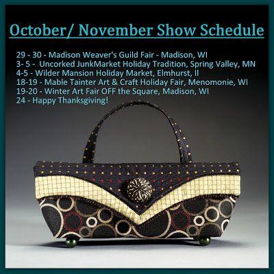 Helen's Daughters Studio: October/November Show Schedule