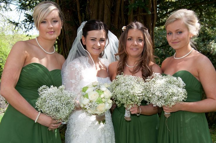 Green dresses for Bridesmaids