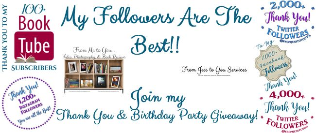 Join my THANK YOU Followers & Birthday Party #Giveaway! WIN #books OR a #GiftCard!