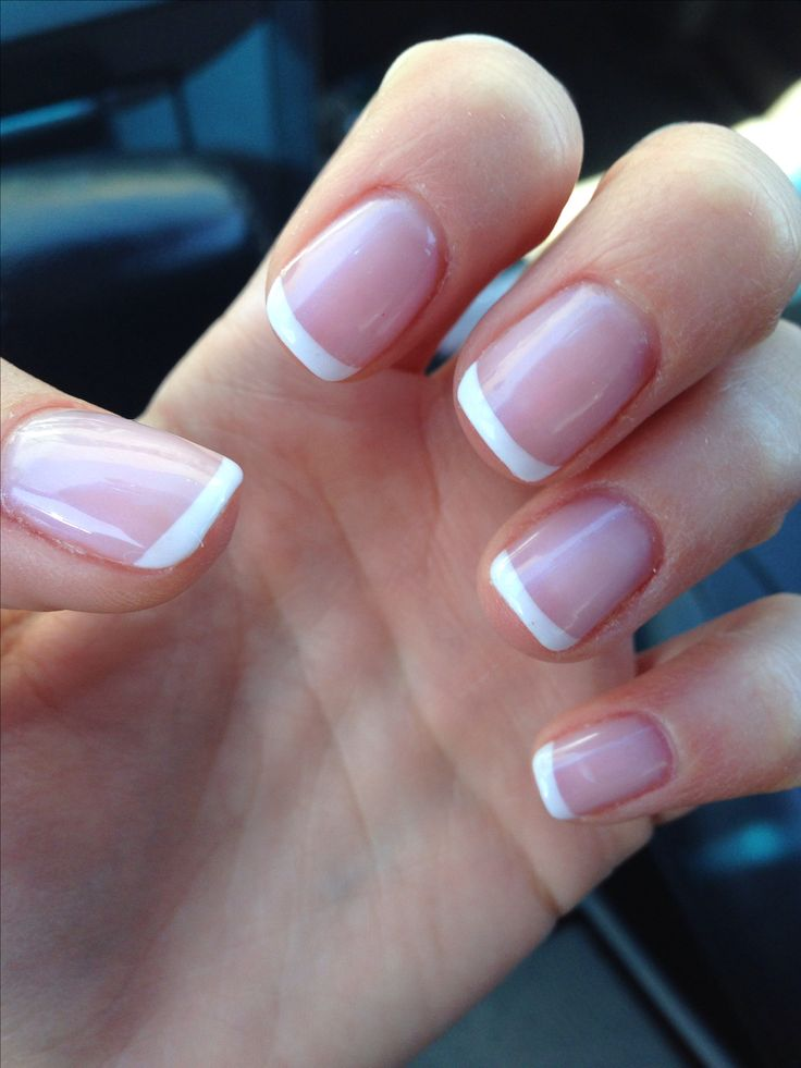 Gel French Manicure | Nail Ideas! | Pinterest | Gel french ...