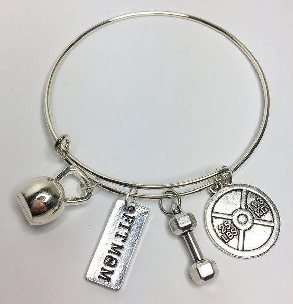 17.99$ Fit Mom Expandable Bangle Charm Bracelet