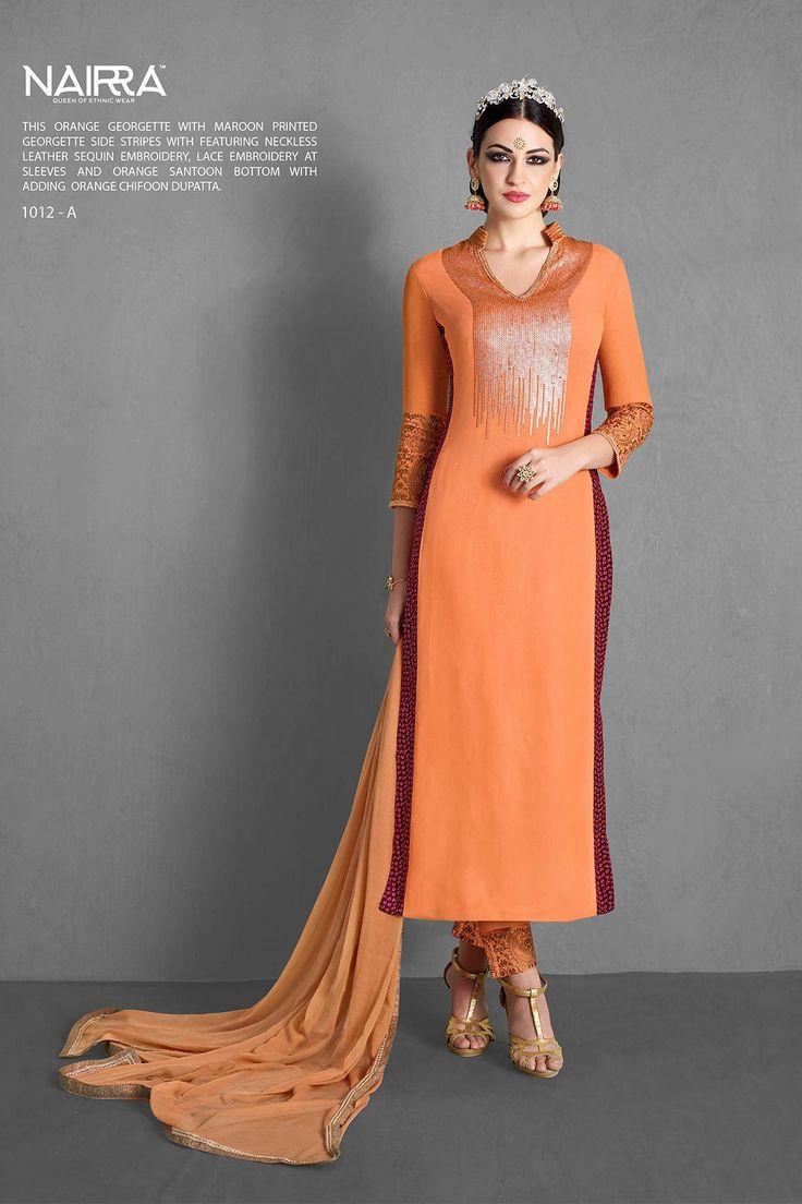 Nakkashi Designer Orange Salwar Kameez  Visii- http://www.glamzon.com/shop/salwar-kameez/nakkashi-designer-orange-salwar-kameez/