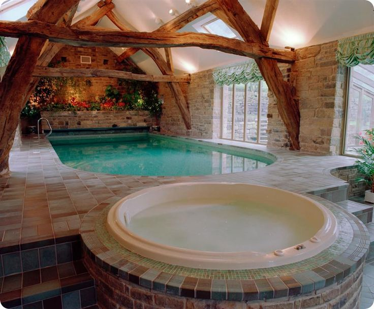 Traditional home plans with beautiful indoor swimming for Italian pool design 7