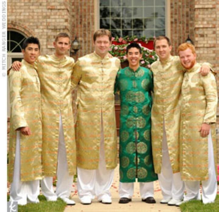 Ao dai men Bridal Party Pinterest Ao dai